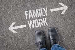 Familj eller arbete Royaltyfria Foton