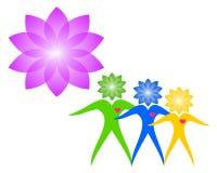 Familj förälder, unge, hjärta, logo, barnuppfostran, omsorg, hälsa, utbildning, vektor för symbolsymbolsdesign vektor illustrationer