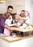 Familj för påsk arkivfoto