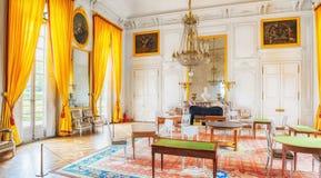 Familj för salonglägenhetkejsarinna i storslagna Trianon Chateau de Ve Arkivbild