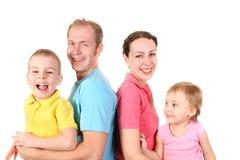 familj fyra Royaltyfria Foton
