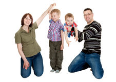 familj fyra Arkivbild