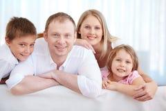 familj fyra Royaltyfri Bild