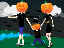 familj halloween Arkivfoto