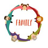 Familj i cirkel Arkivbilder