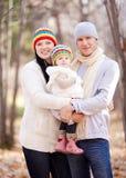 Familj i parken Royaltyfri Bild