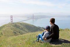 Familj i San Francisco arkivbilder