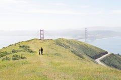 Familj i San Francisco arkivbild