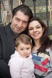 Familj i stängd ram Royaltyfria Foton