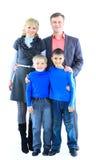 familj isolerad white Arkivbilder