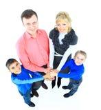 familj isolerad white Arkivbild