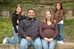 familj långt royaltyfri bild