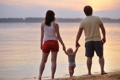familj lyckliga tre Royaltyfri Foto