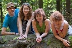 Familj och träd Arkivbilder