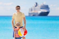 Familj på semester Royaltyfria Bilder
