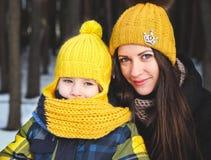 Familj på vinter Royaltyfri Foto