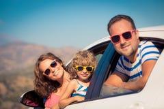 Familj på semester Arkivfoto