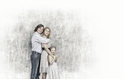 familj tre Royaltyfri Foto