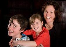 familj tre Arkivbilder