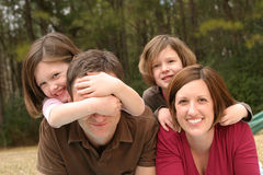 familjbarn arkivbild