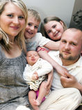 familjbarn Royaltyfri Fotografi