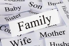 Familjbegrepp Arkivfoto