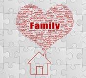 Familjbegrepp Arkivfoton