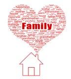 Familjbegrepp Arkivbild