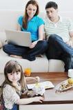 Familjbesparingar arkivbild