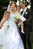 familjbröllop Royaltyfri Foto