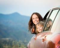 Familjebiltur Fotografering för Bildbyråer
