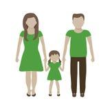 FamiljEco begrepp vektor illustrationer