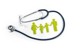 Familjeliv- och sjukförsäkringbegrepp royaltyfri fotografi