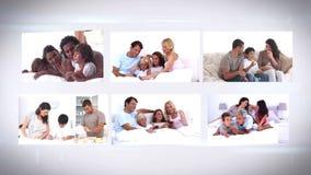 Familjelivmontage arkivfilmer
