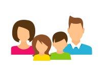 Familjemedlemavatars i plan stil Royaltyfria Bilder