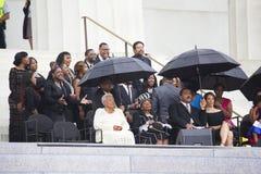Familjen av Martin Luther King Arkivfoto