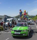 Familjen Skoda - Tour de France 2016 Arkivbild