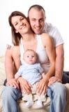 familjförälskelse royaltyfria bilder