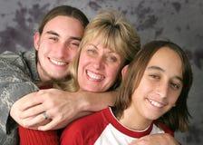 familjförälskelse Arkivfoton