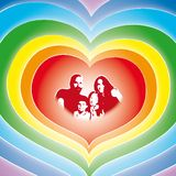familjförälskelsevektor Royaltyfri Bild