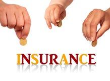 Familjförsäkring. arkivfoton
