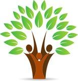 Familjfolkträd Arkivfoto