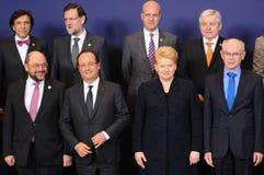 Familjfoto - Europeiska rådet Royaltyfria Foton