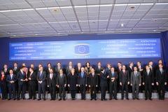 Familjfoto - Europeiska rådet Arkivfoto