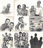 familjförälskelse gör Royaltyfria Bilder