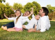 familjglädje Fotografering för Bildbyråer