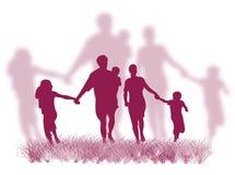 familjgräs vektor illustrationer
