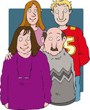 Familjgrupp Arkivbild