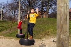 Familjgyckel parkerar in Fotografering för Bildbyråer