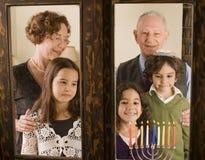familjhannuka Royaltyfri Foto